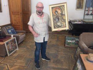 Сергей Костин - выставка Жураковского во всемирном клубе Одесситов