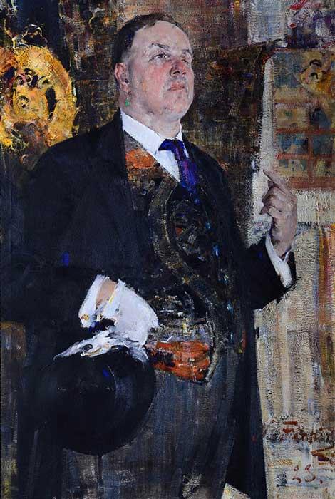 Портрет художника Бурлюк Давид