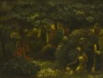 """Алтанец Валентин: Жанровая картина, пейзаж """"В лесу"""""""