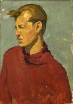 Александр Фрейдин: Портрет Мужчина в красном