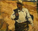 Александр Фрейдин: Портрет Мужчина в шляпе