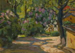 """Герус Борис: Пейзаж """"Цветущие деревья"""""""