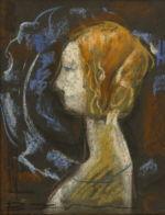 Хрущ Валентин: Портрет Профиль девушки