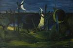 "Монев Пламен: Пейзаж, Символизм ""Восход семи лун"""