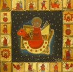 """Уварова Анастасия: Декоративная живопись """"Новогодние ангелы"""" Рисунок 4"""
