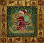 """Уварова Анастасия: Декоративная живопись """"Новогодние ангелы"""" Рисунок 1"""