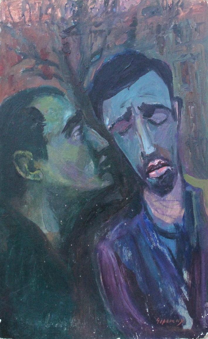 """Черешня Моисей: Жанровая картина, Портрет """"Шепот"""""""