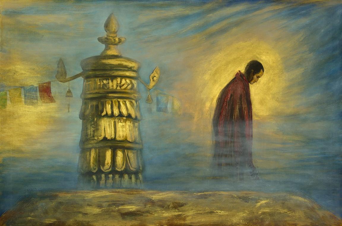 """Дульфан Дмитрий: Религия Жанровая картина """"Монах"""""""