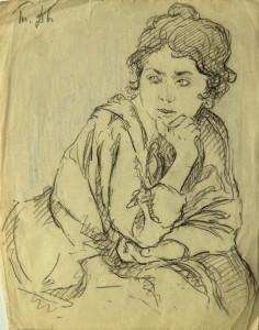 Дворников Тит: Портрет женщины