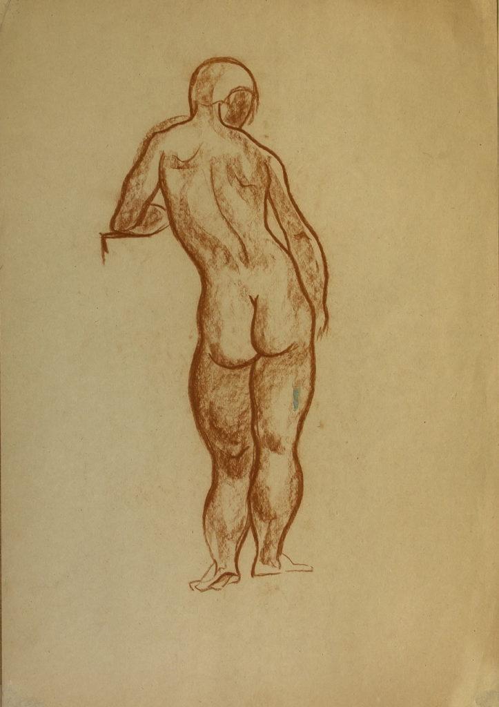 Фрейдин Александр: Вид со спины. Рисунок 2