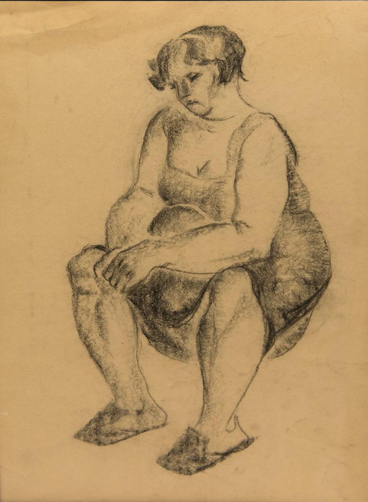 Фрейдин Александр: Сидящая женщина. Рисунок 3