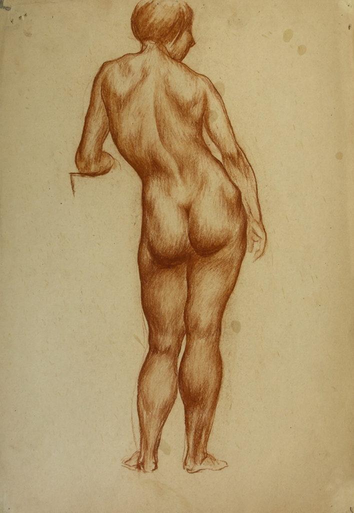 Фрейдин Александр: Вид со спины. Рисунок 1
