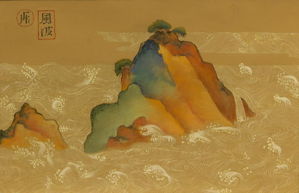Гармидер Наталья: декоративная живопись Китайский пейзаж 1