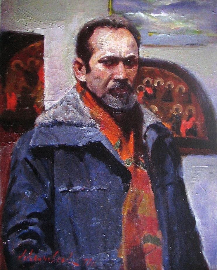 Автопортрет художник Калиновский Константин