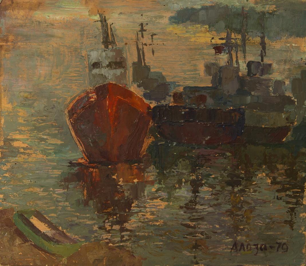"""Лоза Адольф: Морской пейзаж """"Корабли"""""""