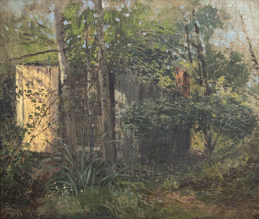 """Неизвестный художник: """"В деревьях"""""""