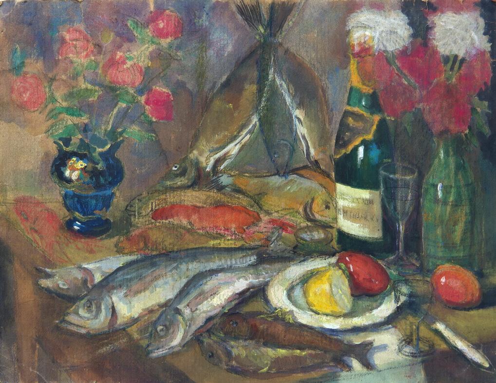 """Неизвестный художник: """"Ужин рыбака"""""""