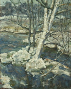 "Шистер Абрам: Пейзаж ""Дерево в снегу"""