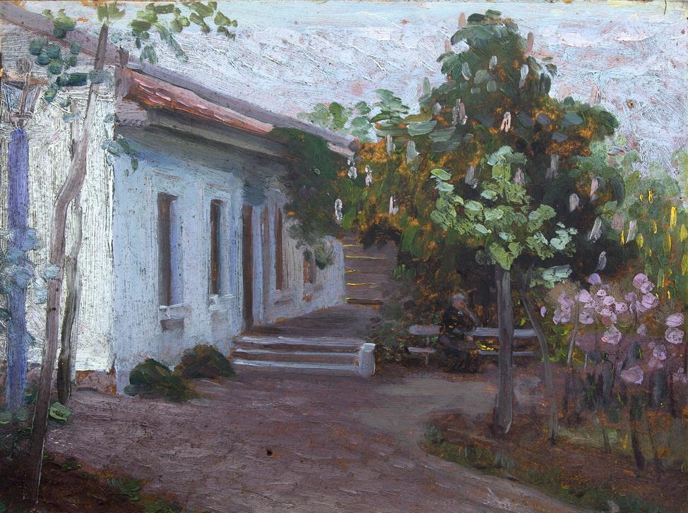 "Стилиануди Александр: ""На скамейке возле дома"""