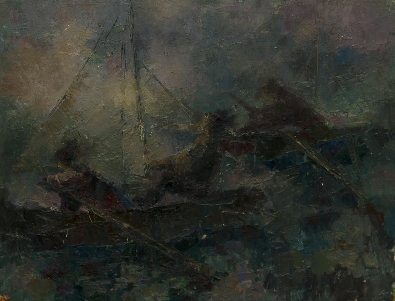 "Тихолуз Давид: Жанровая картина ""На лодках"""