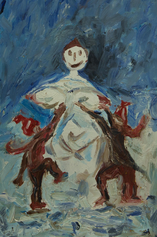 "Тихолуз Давид: Жанровая картина ""Снеговик"""