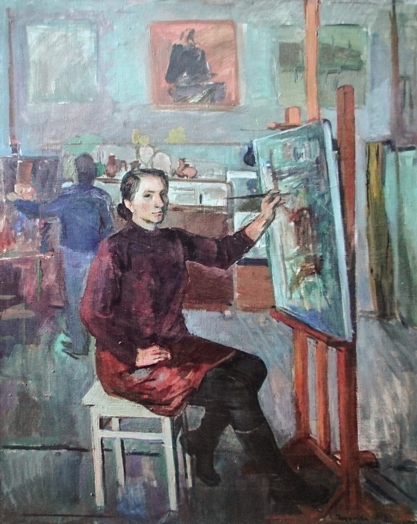 Токарева Ольга, автопортрет художницы