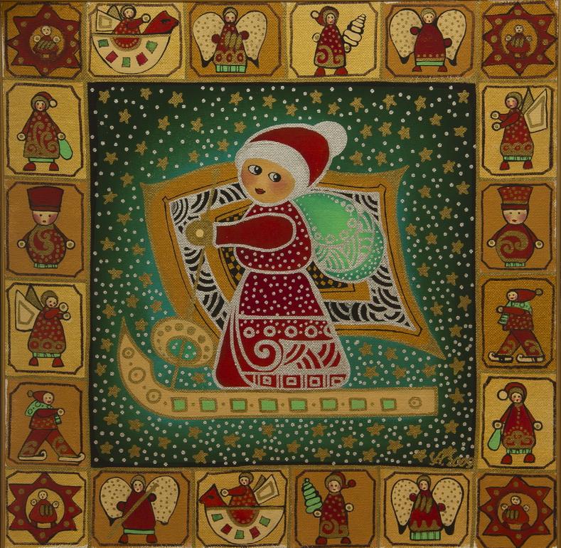 """Уварова Анастасия: """"Новогодние ангелы"""" Рисунок 1"""