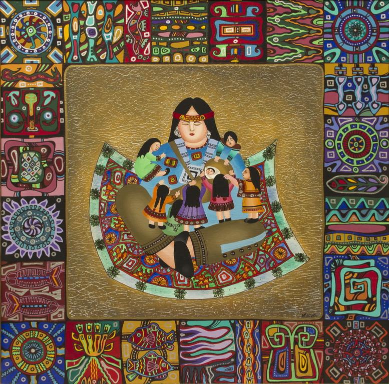 """Уварова Анастасия: """"Женщина и дети"""" Рисунок 1"""