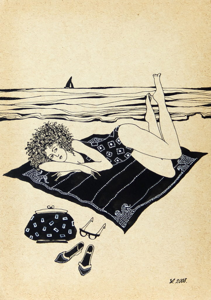 """Уварова Анастасия: """"Загорающая женщина"""" Рисунок 4"""