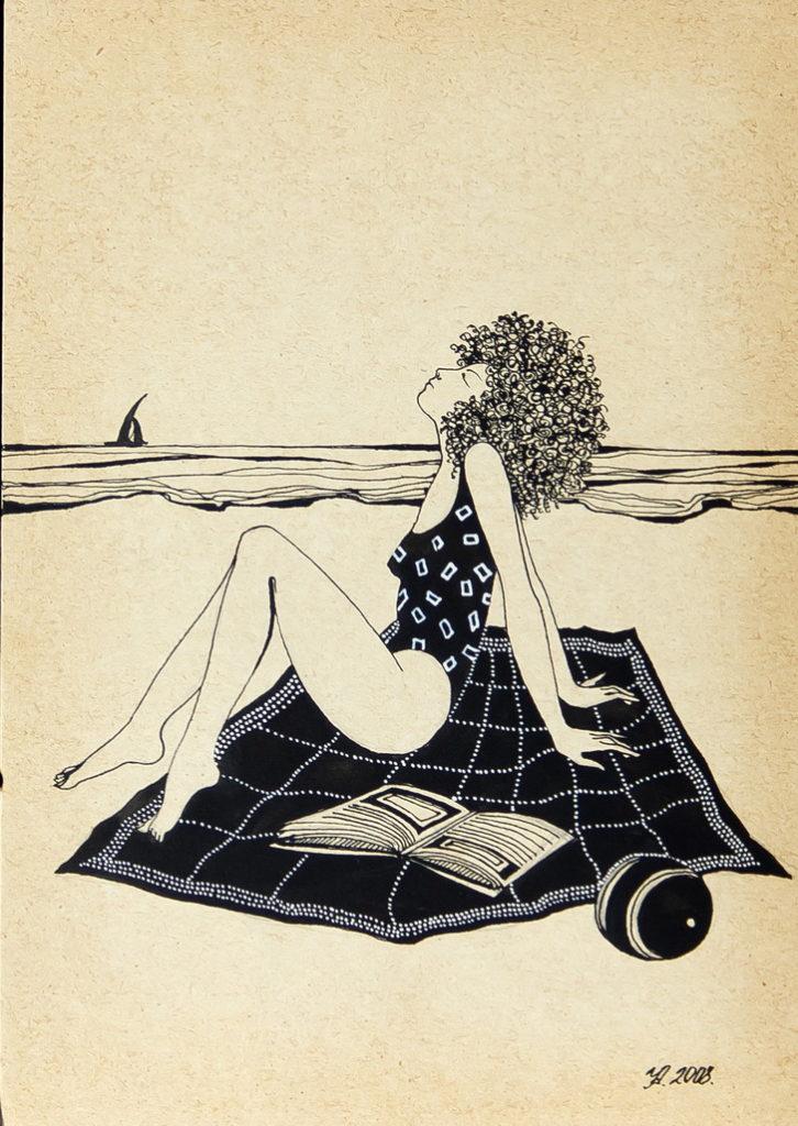 """Уварова Анастасия: """"Загорающая женщина"""" Рисунок 3"""