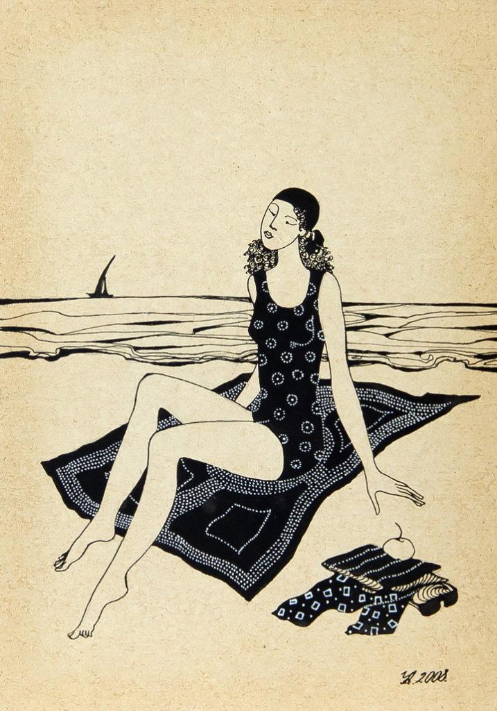 """Уварова Анастасия: """"Загорающая женщина"""" Рисунок 2"""