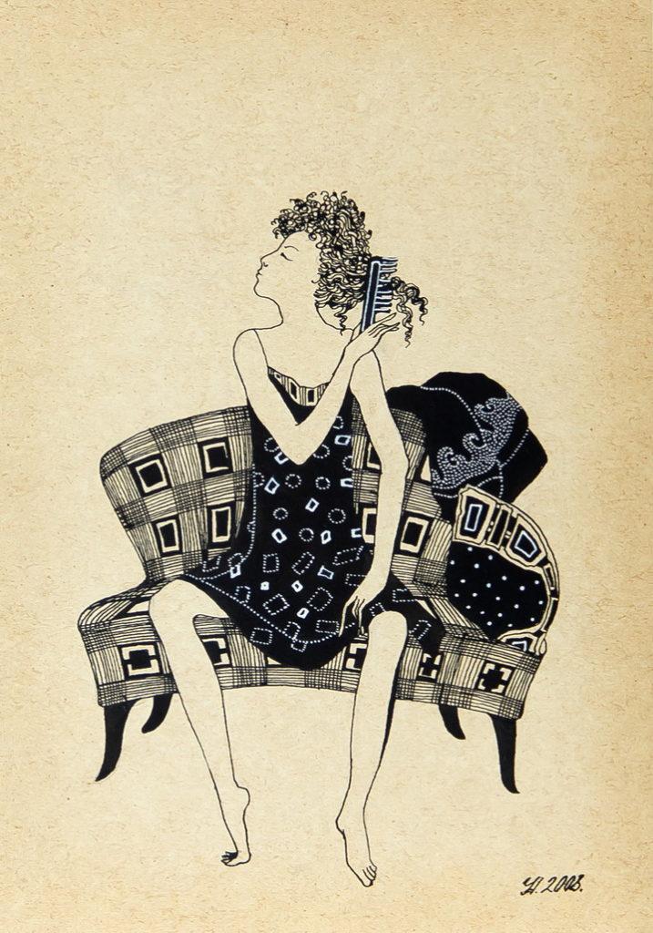 """Уварова Анастасия: """"Девушка на диване"""""""