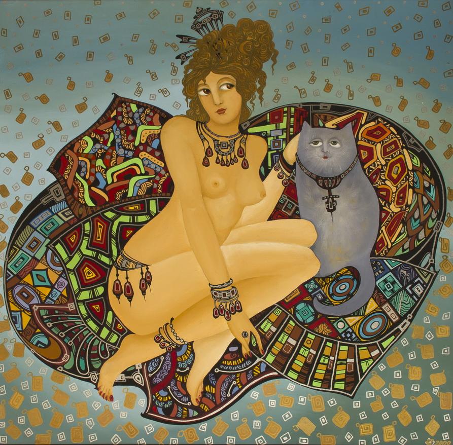 """Уварова Анастасия: """"Женщина с котом"""""""