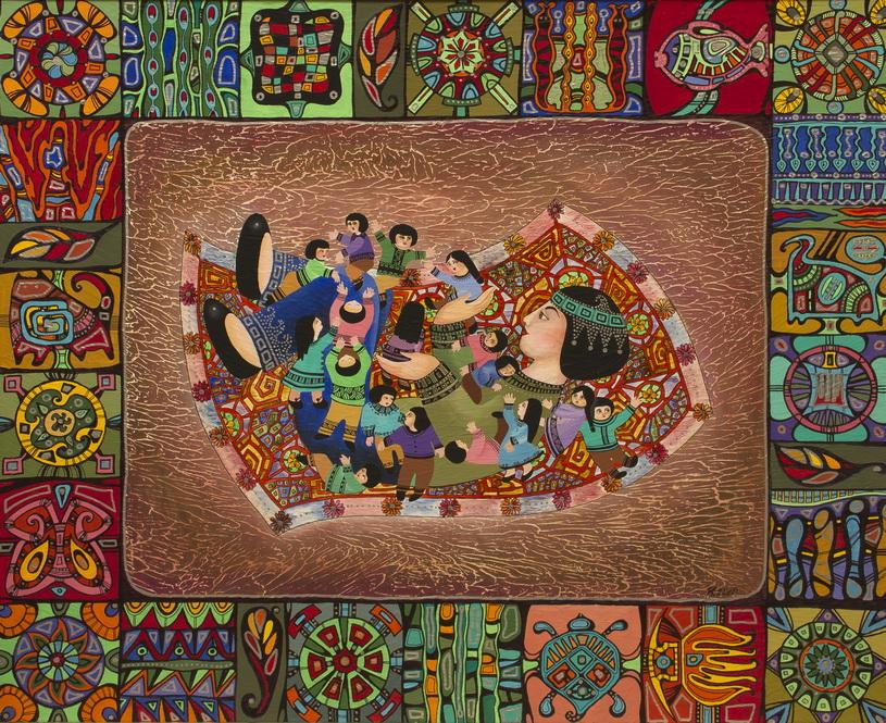 """Уварова Анастасия: Декоративная живопись """"Женщина и дети"""" Рисунок 4"""
