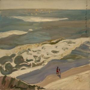 Зиновеева Полина: Пейзаж морской, Жанровая картина